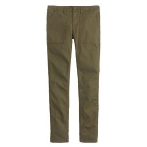 J. Crew skinny utility cargo pant olive green